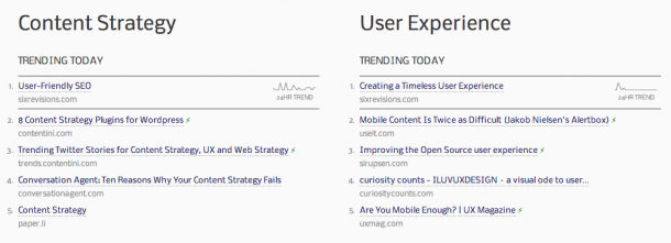 Web Strategy Twitter Trends screenshot